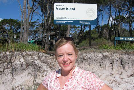 Arriving at Fraser Island