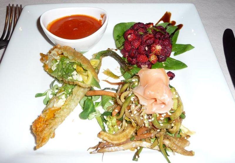 Delicious vegan food