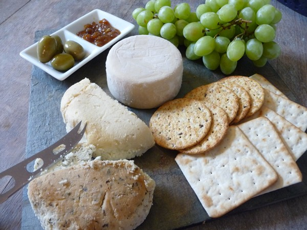 A vegan cheese board!