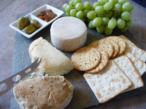A vegan cheese board!