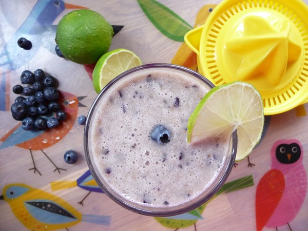 Banana Blueberry Lime Zinger Smoothie