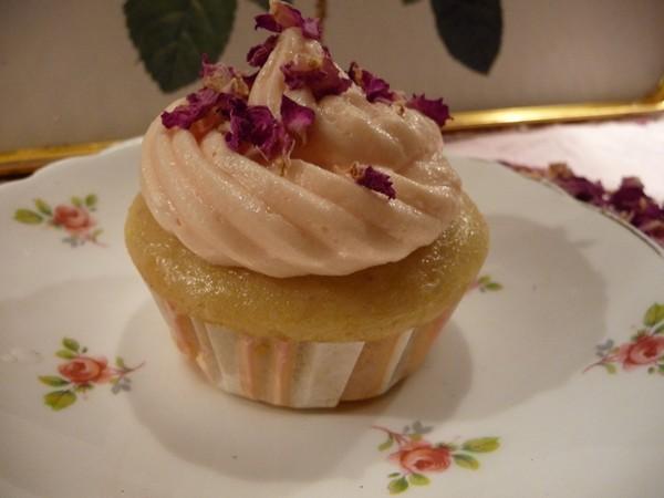 Lemon Rosewater Cupcakes