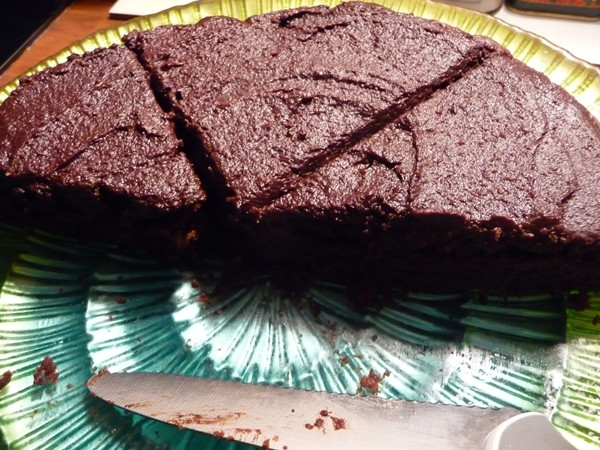 Vegan Chocolate Lime Rum Cake - nearly gone!