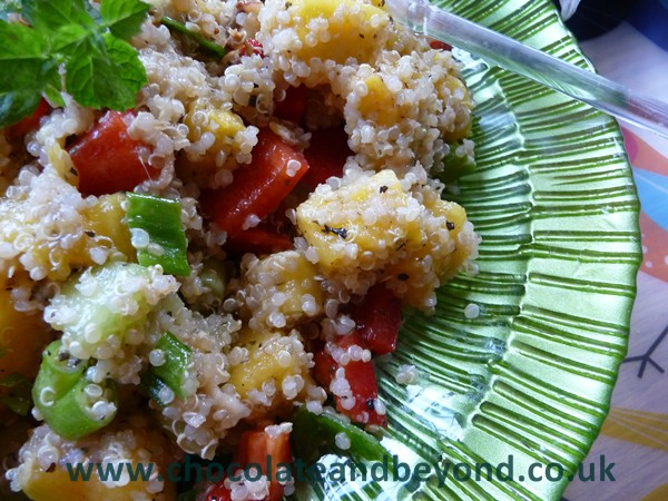 Gingery Pineapple & Melon Quinoa Salad