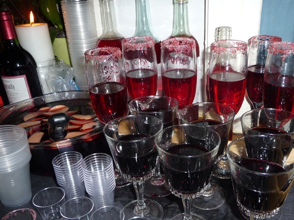 Tray of blood bank drinks