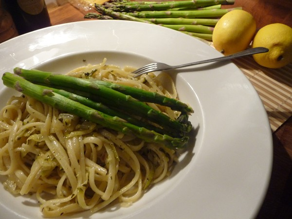 Lemon Courgette Linguine with Tarragon & Asparagus
