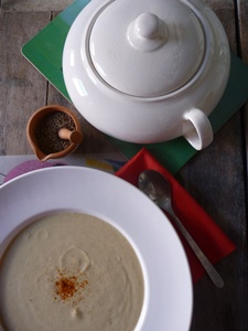 Vegan Cauliflower, Coconut & Peanut Soup