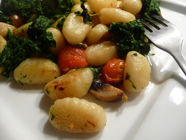 Pan fried gnocchi, simple!