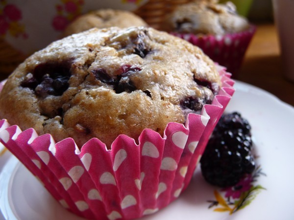 Blackberry Vegan Buttermilk Muffins