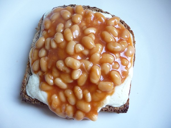 Beans & Vegan Cheese on Toast