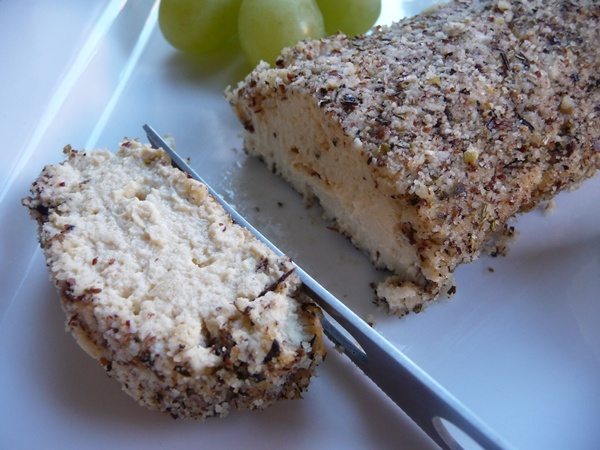 Creamy Garlic Vegan Tofu Cheese