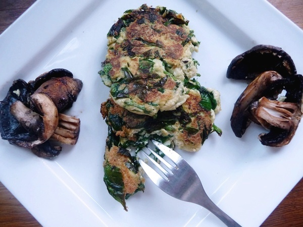 Spinach & Tofu Fritters