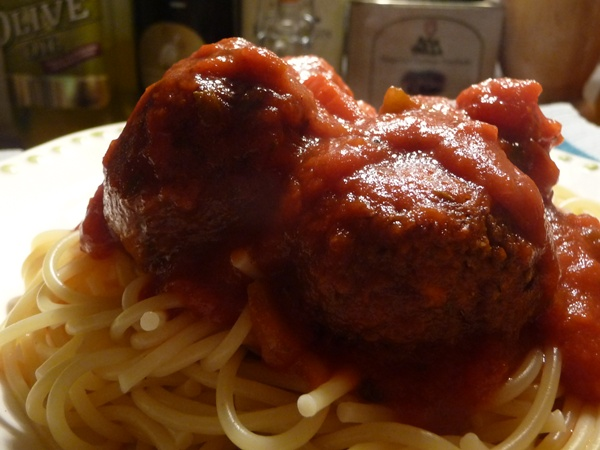 Vegan meatballs, made with aduki beans!