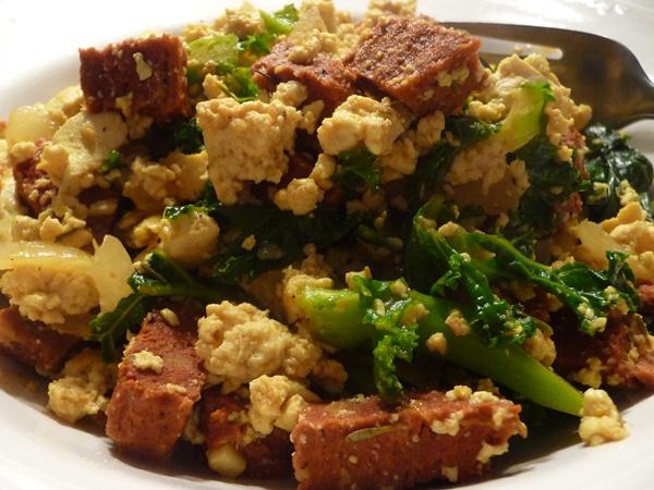 Chorizo Tofu Scramble