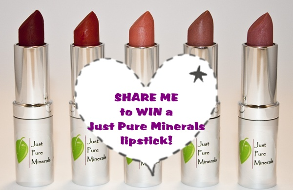WIN a Just Pure Minerals Vegan Lipstick