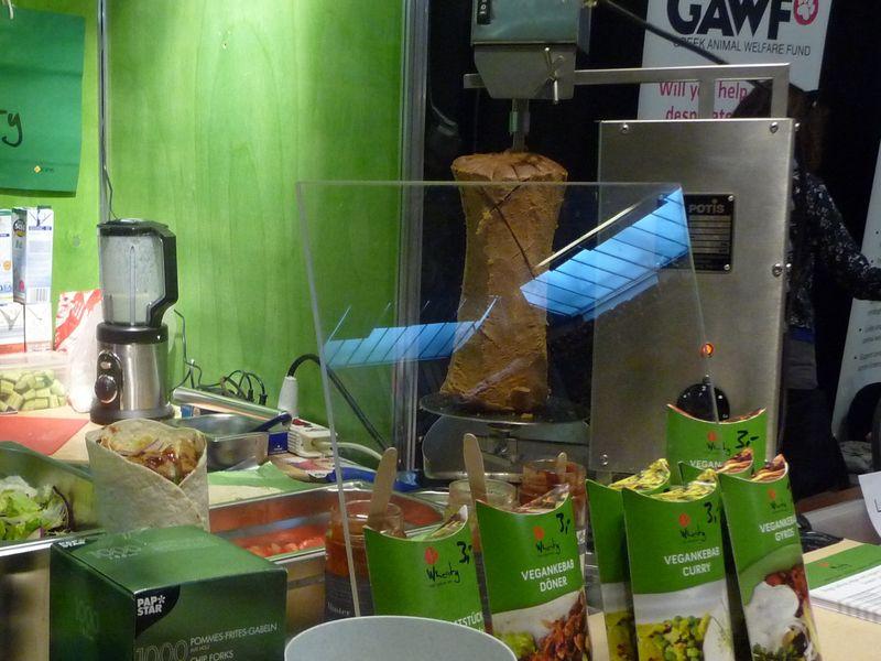 Wheaty vegan doner kebab stand