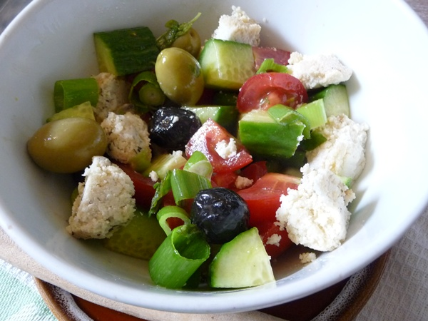 Healthy vegan Greek Salad