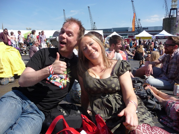 Andrea and Manchester vegan poet Dominic Berry