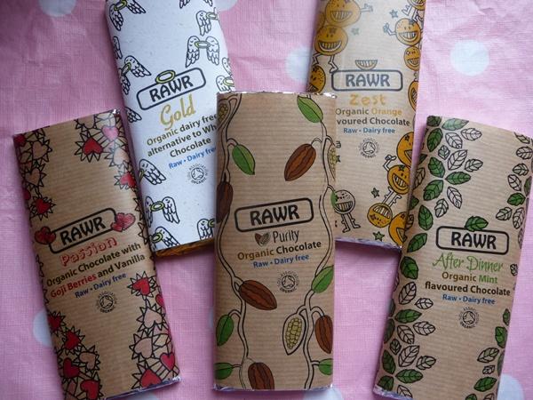 RAWR chocolate selection