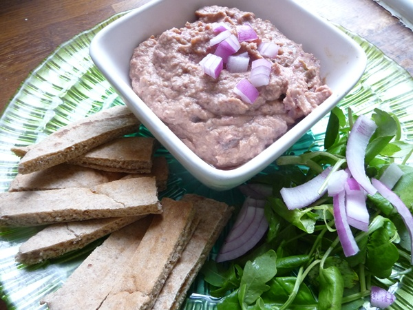 Eggplant & red onion dip