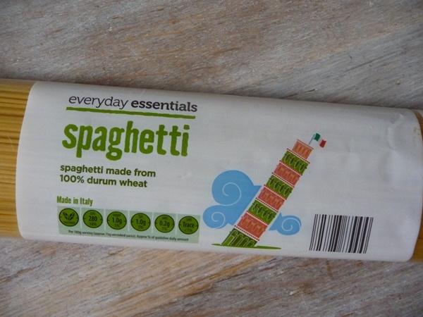 Aldi 19p spaghetti