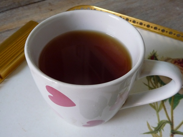Weak black tea, no soya milk, is not my cup of tea!