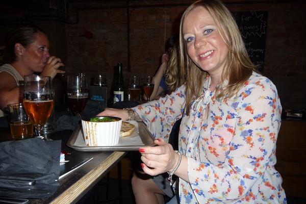 Enjoying the veg curry at BrewDog Manchester