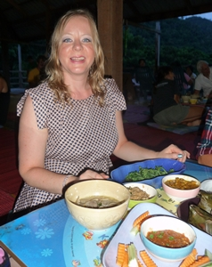 Ceremonial dinner at Elephant Nature Park
