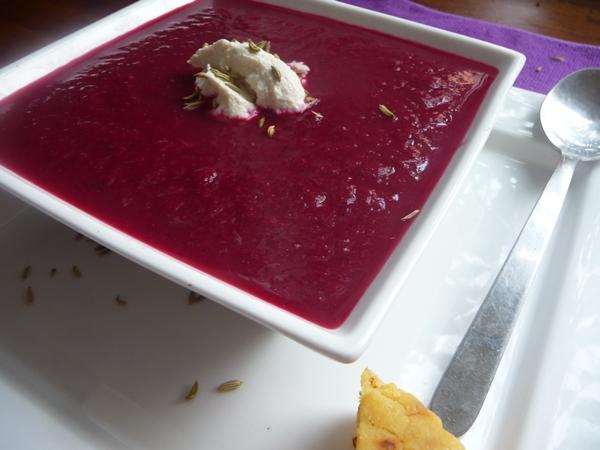 Autumn Beet & Fennel Soup