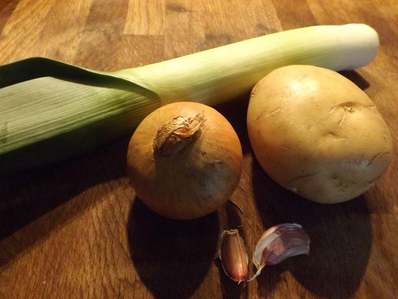 Leek, potato, onion, garlic