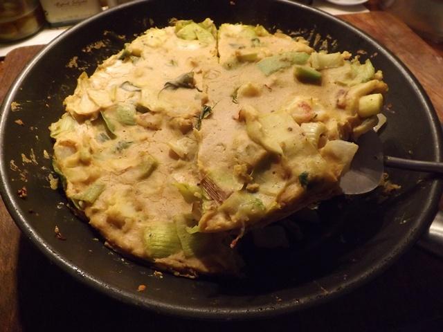 Leek & Potato Vegan Frittata