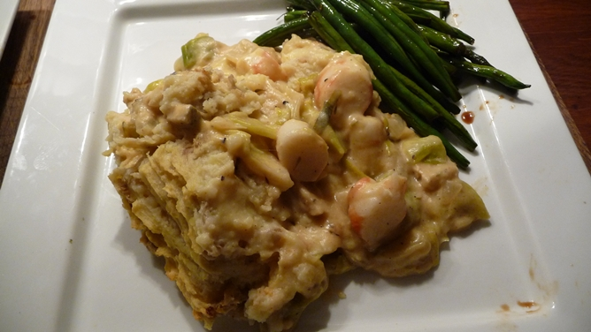 Vegan fish pie